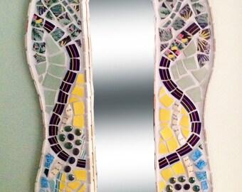 Tropical Seaside Mosaic Mirror