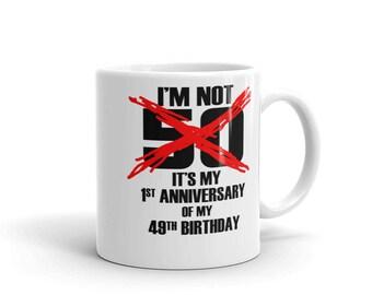50th Birthday Coffee Mug Gift Idea