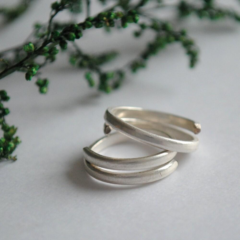 Sterling Silber Zehenring. Spirale Spule Plain Zehenring.