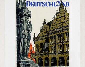 Germany Travel Poster German Wall Art Print Home Decor (ZT633)