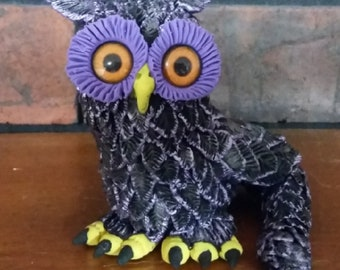 Owlfins Fantasy Owls collector's sculpture #2 Talon