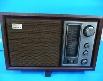 Sony Transistor AM/FM Table Radio model ICF-9650W - Check Photos