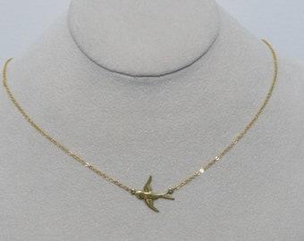 Bird Necklace, Animal Necklace, Tiny Gold Necklace, Gold Necklace, Gift For Her, Silver Necklace Tiny Silver Necklace, Gift for Her