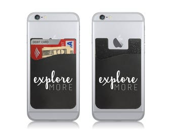Explore More Silicone Adhesive Card Holder Stick On Cell Phone Wallet