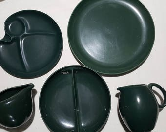 5 Pieces Russel Wright Iroquois Casual Parsley Green - Sold as a lot or by the piece