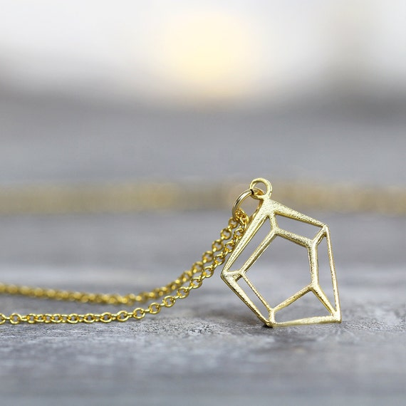 Gold Geometric Necklace - Minimalist Necklace