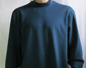 Grey Mock Turtleneck Mens Size S M L XL XXL Big and Tall Extra Long AThY0V