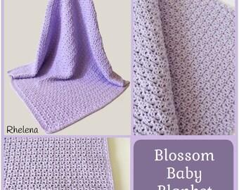 Blossom Baby Blanket ~ Crochet Pattern
