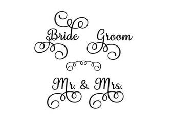 Bride Groom Mr. & Mrs. SVG