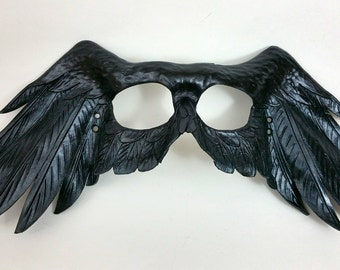 Leather Raven Wing Mask