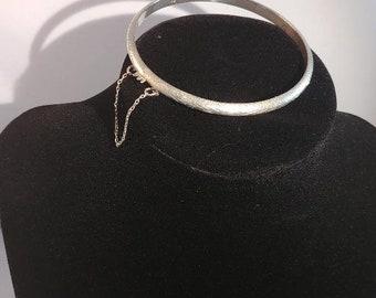 Vintage 925 Sterling Silver Bangle Bracelet