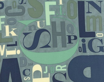 Social Club Letters by The Comstocks for Moda - One Yard - 37094 15