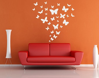 kik1482 Wall Decal Sticker butterflies insects children's bedroom living room