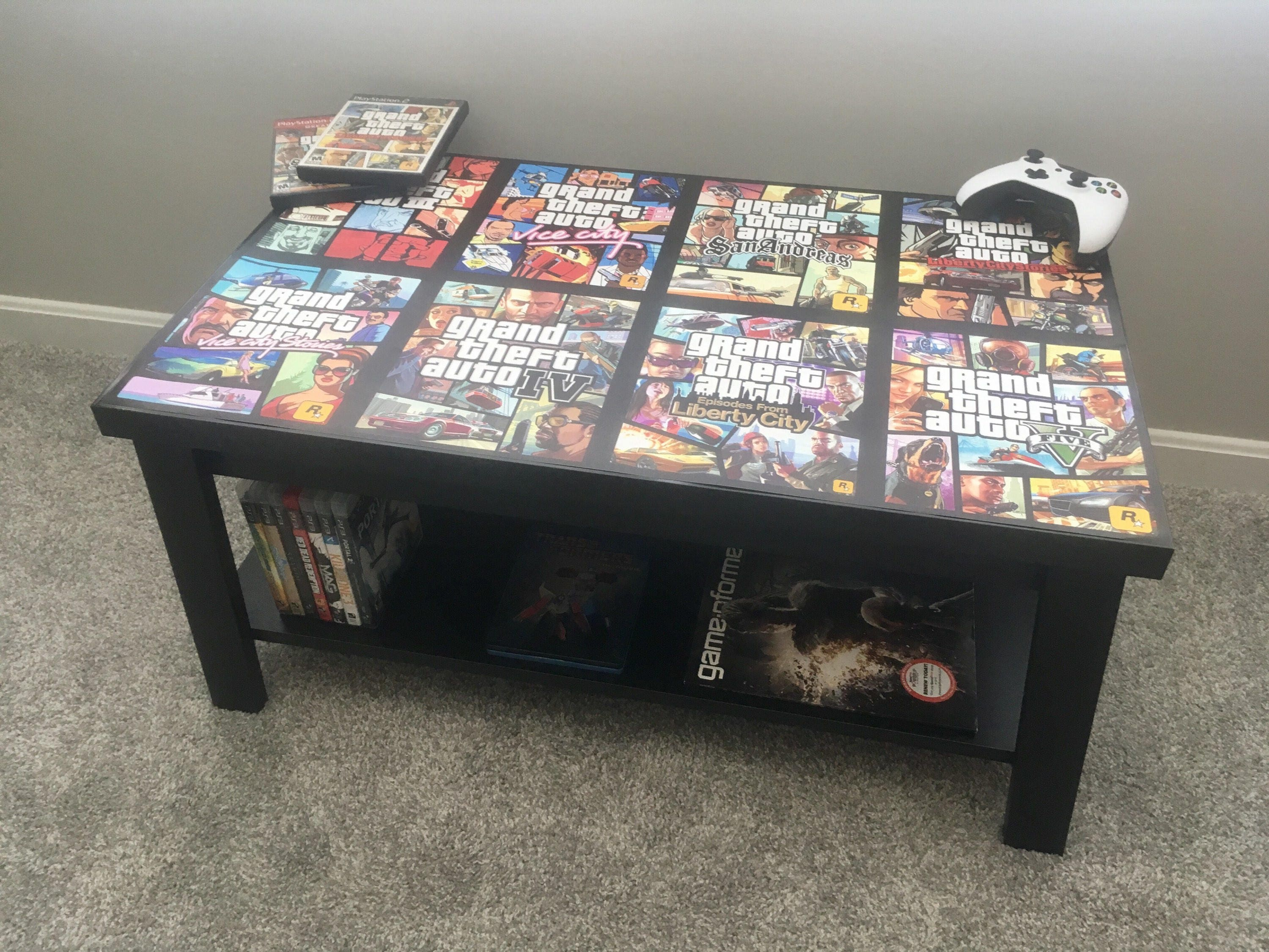 Grand Theft Auto Playstation Xbox Custom Video Game Coffee