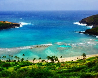 "Digital photo Hawaii landscape ""Hanauma bay""----Apa Gallery Artwork"