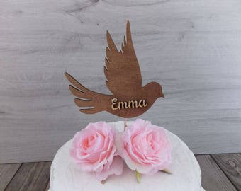 "cake topper ""dove"" - wedding  / cake topper  / marriage  / wedding / decoration / birthday / communion"