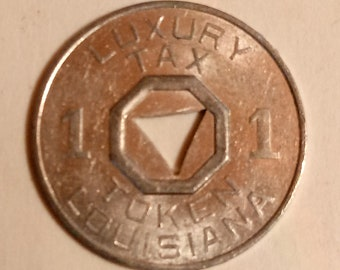 Louisiana Luxury Tax Token 1 mill,Louisiana,Token Collectible, Jewelry Making
