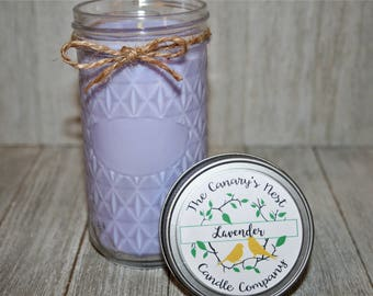 Lavender Candle, Soy Candle, Soy Wax, Scented Candles, Relaxing Candle, Bridesmaid Candle, Bath Candle, Soothing Candle, Candle Favors