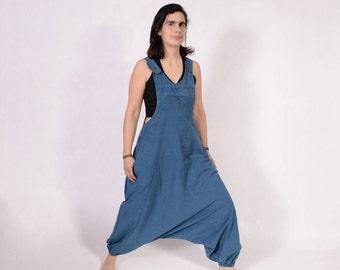 Harem pants jumpsuit - Overalls - Women - loose jumpsuit - dungarees - Trance Jumpsuit - Hippie Jumpsuit - Pixie Dungarees