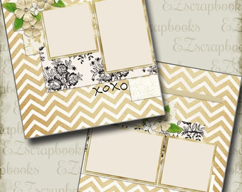 THE WEDDING - Eleven - 2 Premade Scrapbook Pages - EZ Layout 667