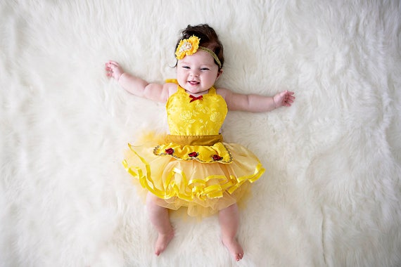sc 1 st  Etsy & Belle costume Belle baby costume baby princess costume
