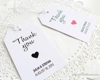 Custom Wedding Tags, Big Hang Tags, White Tags, Favor Tags, Gift Tags, Wedding Favor Tags