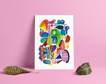 Colorful Abstract Print, Abstract Art, Watercolor painting, Abstract Painting, Abstract Modern Print, Abstract Wall Art, Wall Decor.