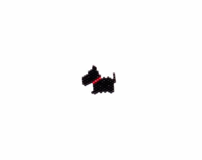 Scottish Terrier Dog Brick Stitch Bead PATTERN | DIGITAL DOWNLOAD