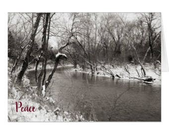 Peace Snowy River Photo Greeting Card
