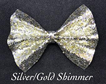 Gold/Silver Shimmer- Glitter Bow