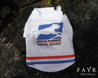 Dog Clothing-Dream Runners Postal Service Dog Sweatshirt w/ Envelope Pocket Uniform