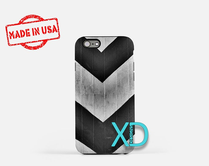 Industrial Chevron iPhone Case, Chevron iPhone Case, Gray iPhone 8 Case, iPhone 6s Case, iPhone 7 Case, Phone Case, iPhone X Case, SE Case