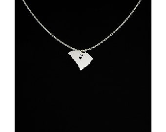 South Carolina Necklace - South Carolina Jewelry - South Carolina Gift