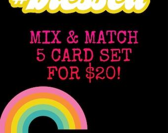 Mix and Match 5 Card set