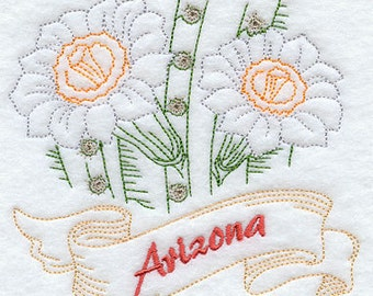 Arizona State Saguaro Cactus Flower Flour Sack Hand/Dish Towel