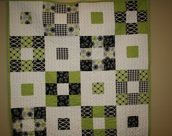 Custom Made Nine Patch Baby Quilt