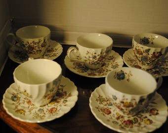 Stafford shire Bouquet Tea Cup and Saucer Set