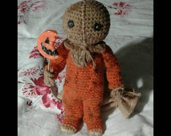 Sam Hain - Halloween - Trick r Treat - Posable Amigurumi Crochet Doll - MADE TO ORDER
