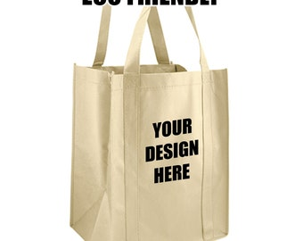 Custom Screen Printed Eco Friendly Re-Usable Shopping Tote Bag Canvas