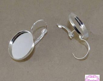 6 support sleeper earrings cabochon 18 mm ba055