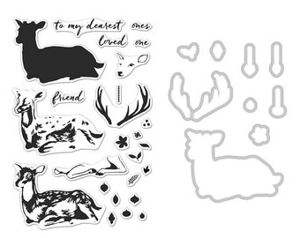 Hero Arts SB119 Deer Stamp+Die Combo