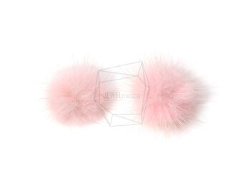 BSC-059-G/4pcs/mini Mink Ball(Indie Pink)/30mm x 30mm