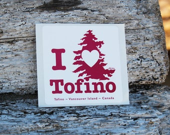 I heart Tofino Sticker