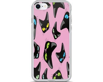 Black Cats iPhone X Case by Diddydom