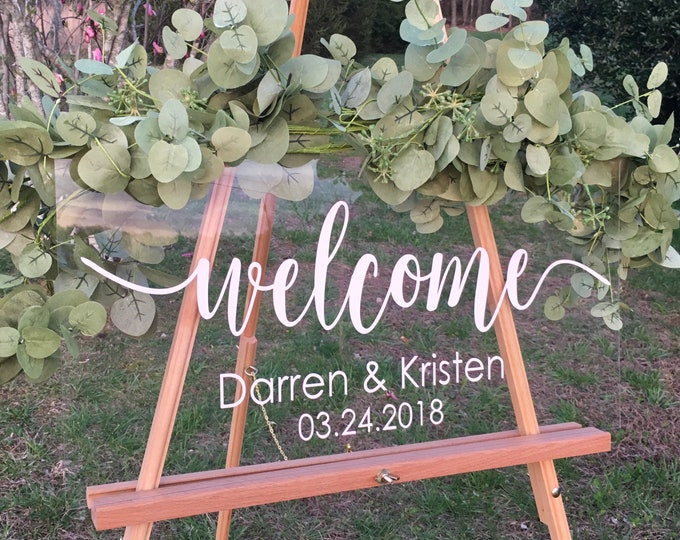 Welcome Wedding Decal Rustic Wedding Decal Wedding Decor Vinyl DIY Lettering for Sign Wedding Sign Decor Personalized Vinyl