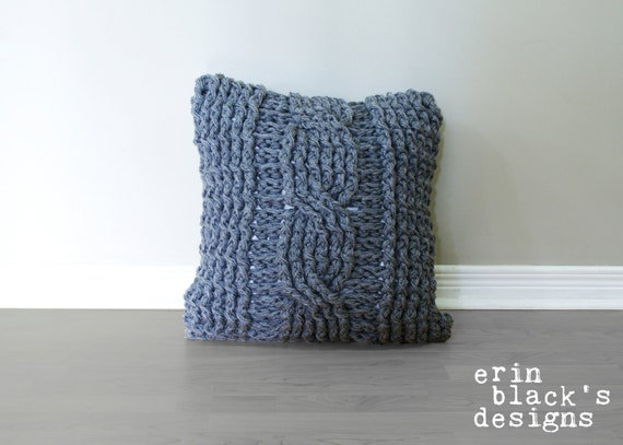 Diy Crochet Pattern Chunky Cable Twist Crochet Pillow Cover