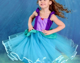 Ariel dress, Ariel costume, little Mermaid dress, the little mermaid, princess Ariel, Ariel Tutu dress, Ariel party, Ariel birthday, Ariel