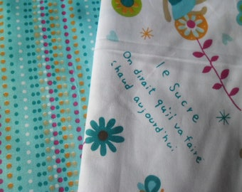 100 x 50 cm 2 mixed cut of fabric cotton patchwork Baby Boys with multicolored pattern