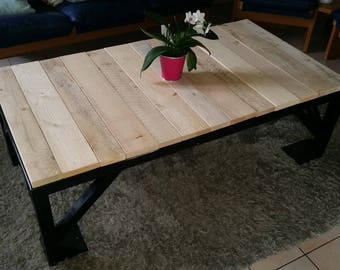 table coffee cart industrial and pallet wood