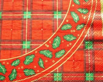 """""""Christmas red"""" towel"""